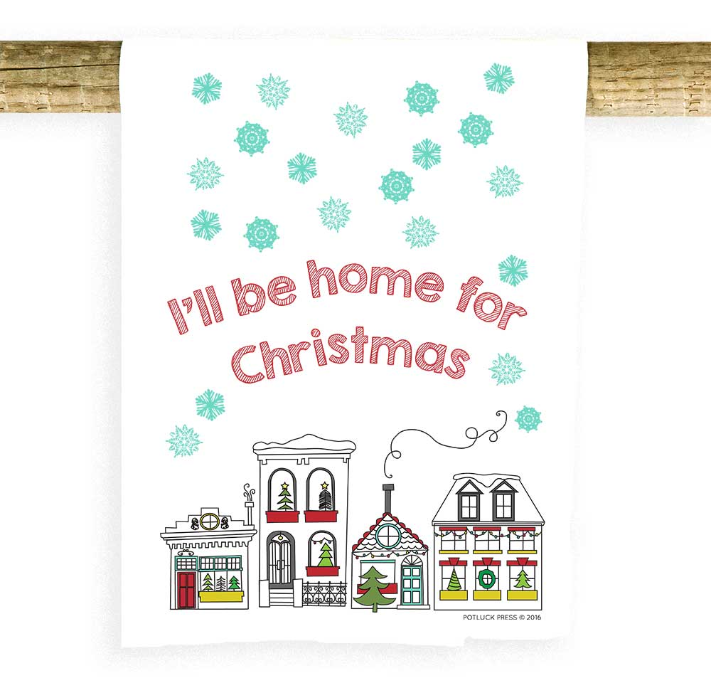 I\'ll Be Home For Christmas Houses - Potluck Press