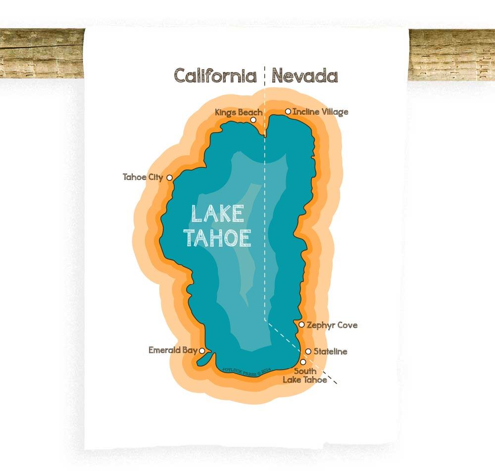 Lake Tahoe Map - Potluck Press