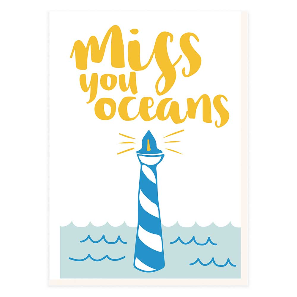 Miss you oceans lighthouse potluck press miss you oceans lighthouse inside greeting m4hsunfo