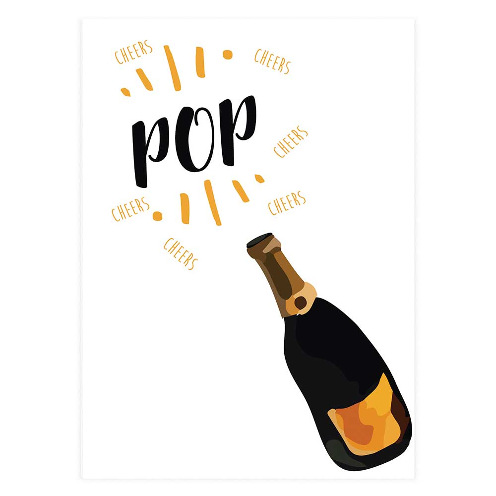 pop champagne cheers potluck press